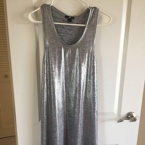 Silver Racer Back Long Shirt or Mini Dress